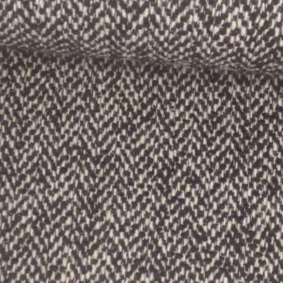 Tela de paño zig-zag blanco y negro tubo
