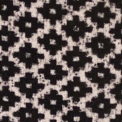 Tela de paño geométrica blanca y negra 1