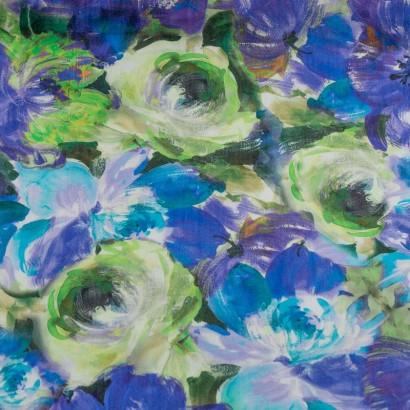 Tela de algodón estampado floral lisa