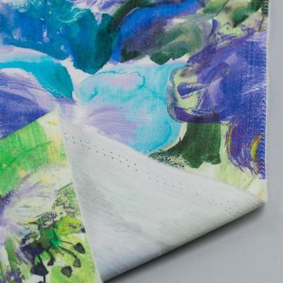 Tela de algodón estampado floral reves