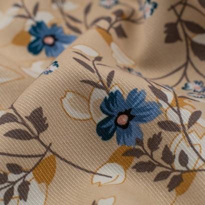 Tela de viyela flores japonesas detalle