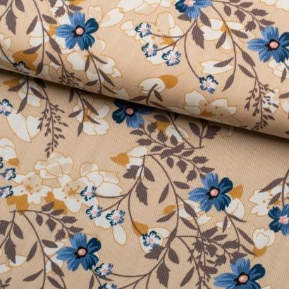 Tela de viyela flores japonesas lomo
