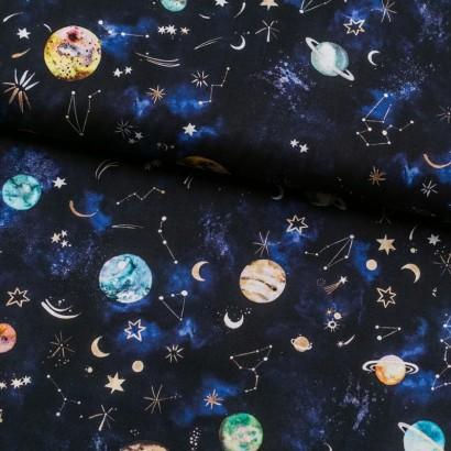 Tela de algodón galaxia lomo