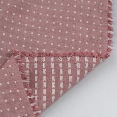 Tela de algodón topos alineados revés
