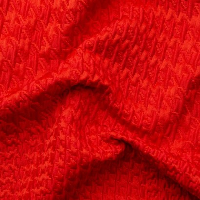 Tela de algodón jacquard arrugada