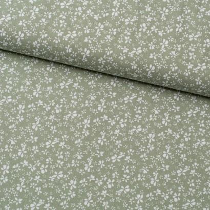 Tela de algodón con flores lomo