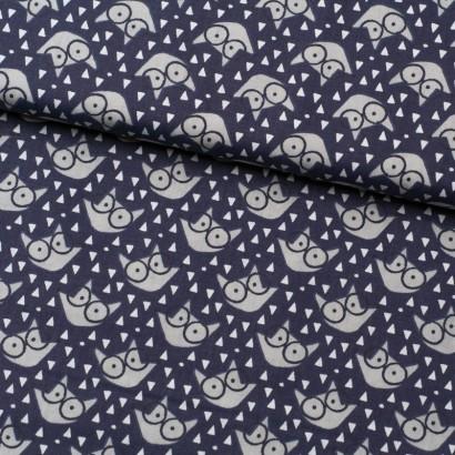 Tela de algodón zorros con gafas lomo
