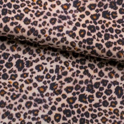 Tela de algodón animal print leopardo lomo