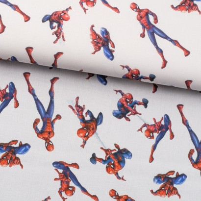 Tela de algodón Spiderman