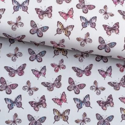 Tela de algodón con mariposas lomo