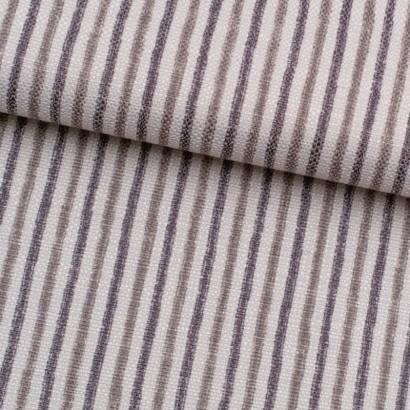 Tela de loneta rayas grises lomo