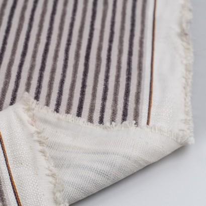Tela de loneta rayas grises reves