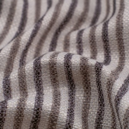 Tela de loneta rayas grises detalle