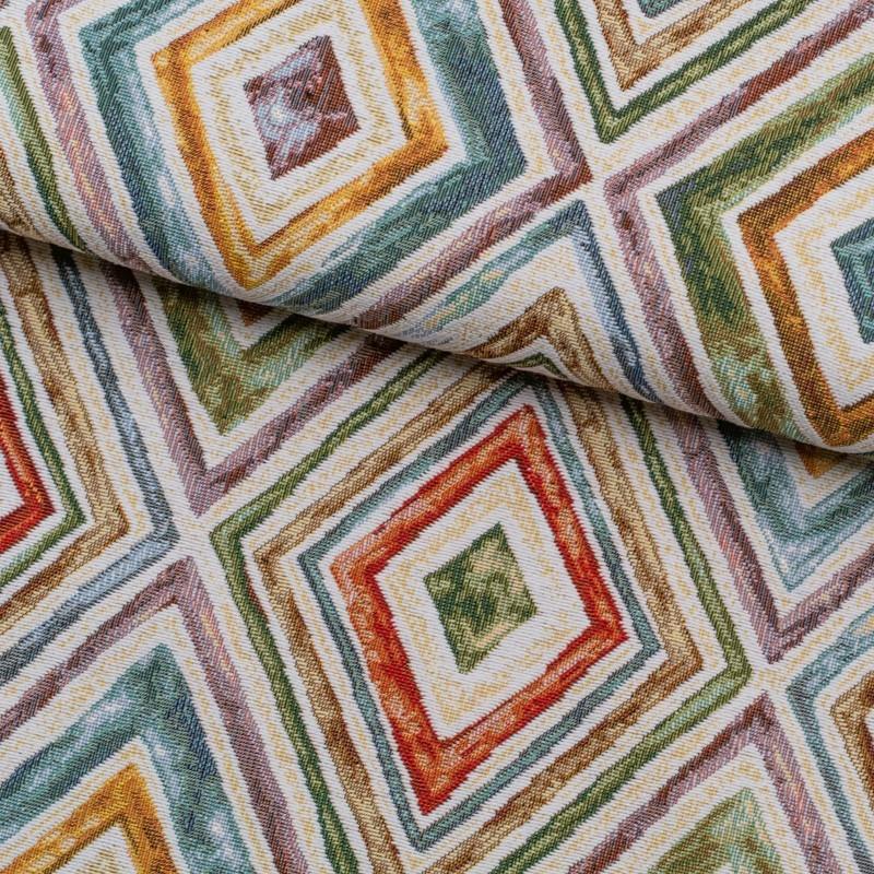 Tela de tapiceria Gobelino con rombos lomo
