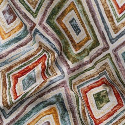 Tela de tapiceria Gobelino con rombos arrugada