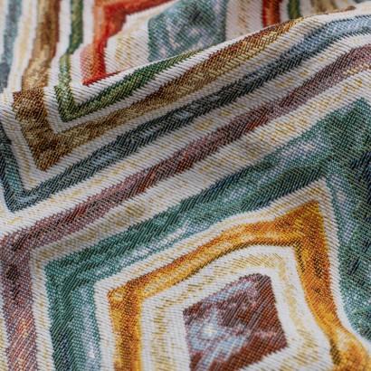 Tela de tapiceria Gobelino con rombos detalle