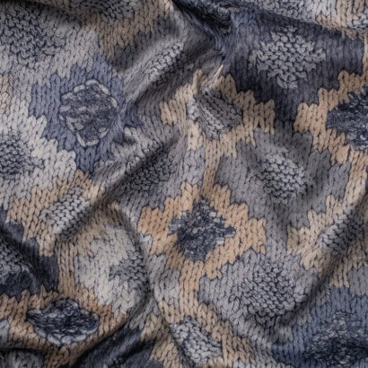 Tela de terciopelo rombos de crochet arrugada