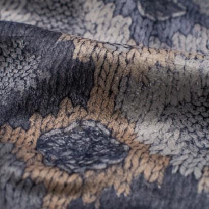 Tela de terciopelo rombos de crochet detalle