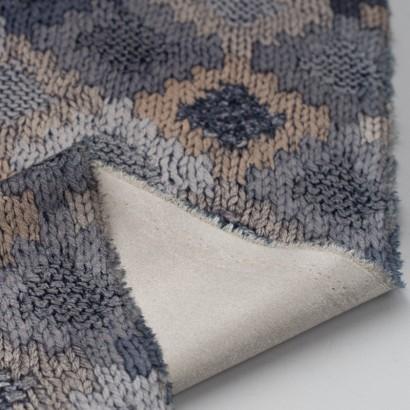 Tela de terciopelo rombos de crochet reves