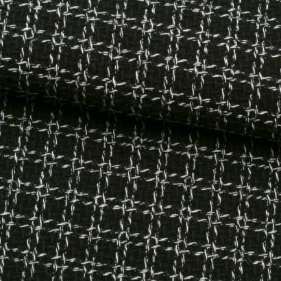 Tela de chanel cuadros negros