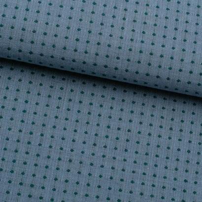 Tela de algodón topos bordados lomo