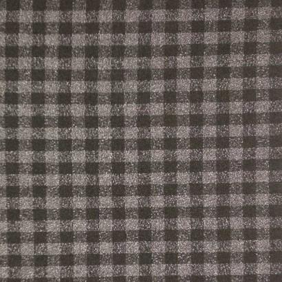 Tela de paño cuadro pequeño negro y gris 1