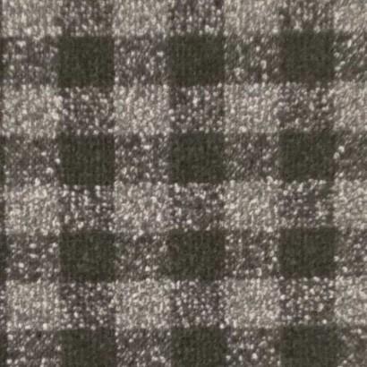 Tela de paño cuadro pequeño negro y gris 2