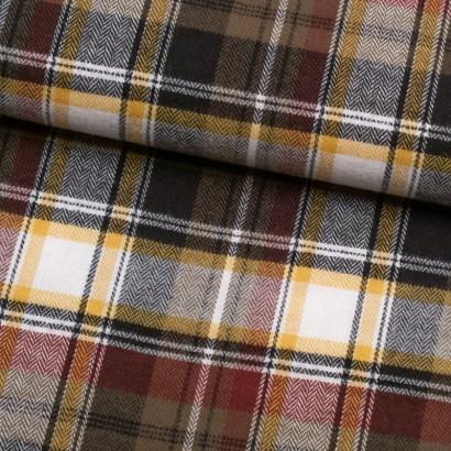 Tela de franela cuadros escocés lomo