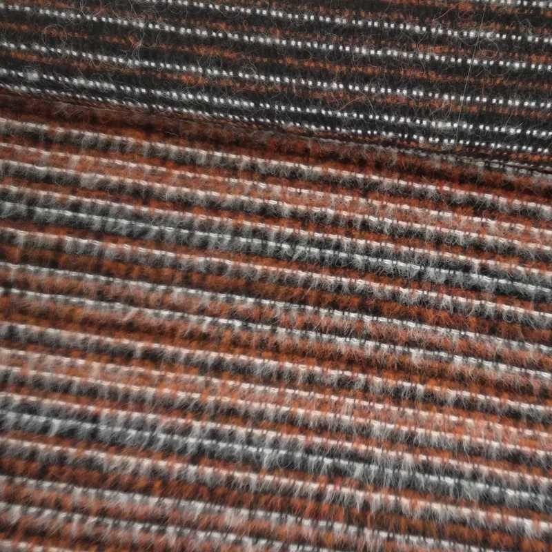 Tela de paño rayas de pelo tubo