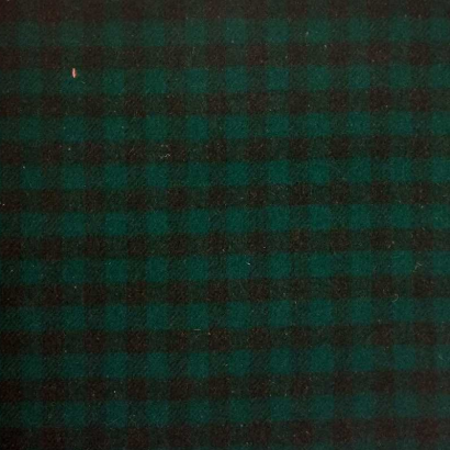 Tela de paño cuadro verde y negro