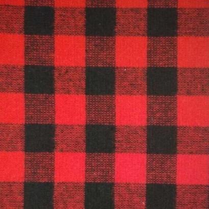 Tela de paño cuadro negro y rojo