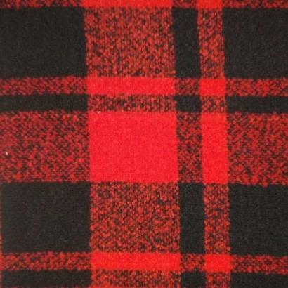 Tela de paño cuadro doble negro y rojo 2
