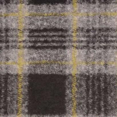 Tela de paño cuadros negro, gris y amarillo