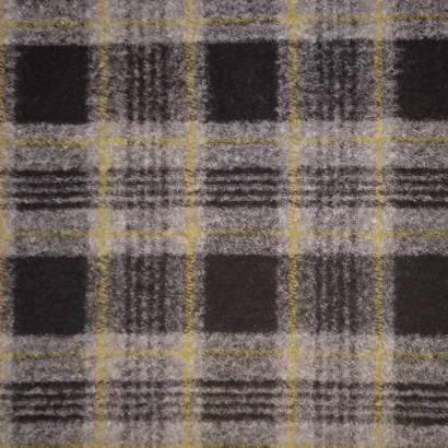 Tela de paño cuadros negro, gris y amarillo 2
