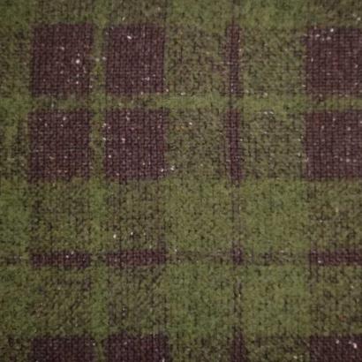 Tela de paño cuadros marrón y verde