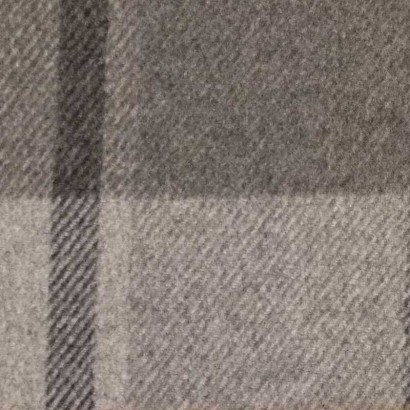 Tela de paño cuadros grandes azul, crudo y gris