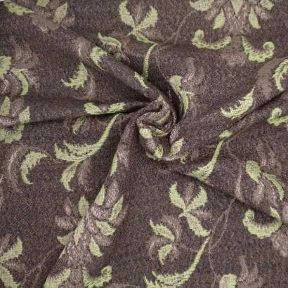 Tela de paño flor verde y marrón arrugada