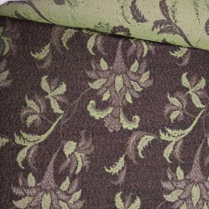 Tela de paño flor verde y marrón tubo