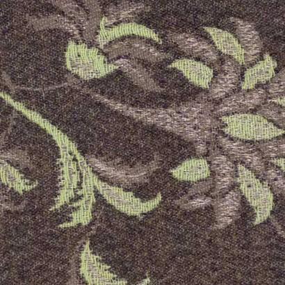 Tela de paño flor verde y marrón