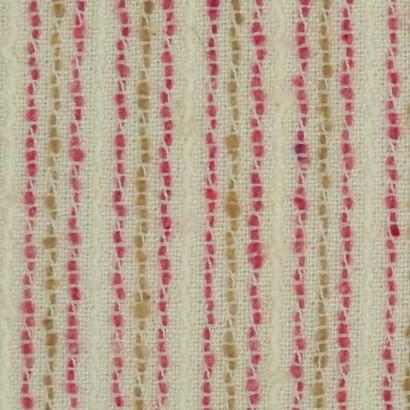 Tela de algodón raya rosa y mostaza