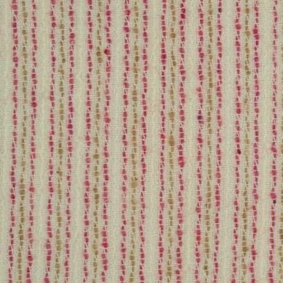 Tela de algodón raya rosa y mostaza 2