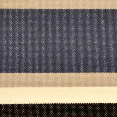 Tela de punto raya azul, beis y gris 2