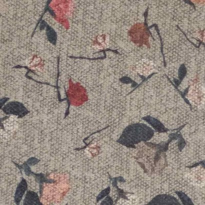 Tela de punto gris con flores de colores 1