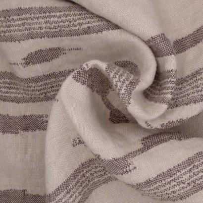 Tela de algodón reversible manchas beis y crudo arrugada 2