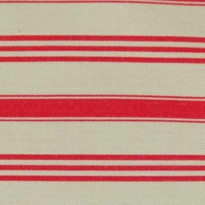 Tela de algodón cruda raya roja 2