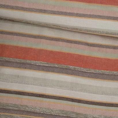 Tela de algodón de rayas de naranjas y beises tubo