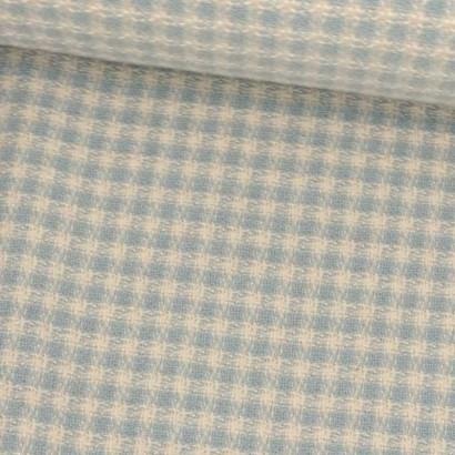 Tela de algodón de cuadritos en azul y blanco tubo