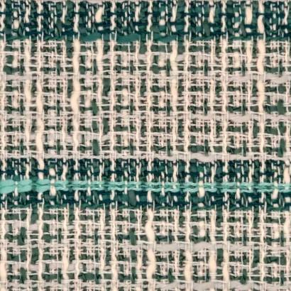 Tela de algodón raya blanca y verde 2