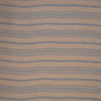 Tela de algodón raya cruda y azul