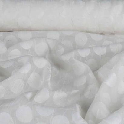Tela de algodón blanca mota  tubo